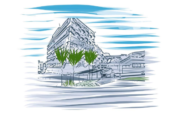 Sketch of EEC Building